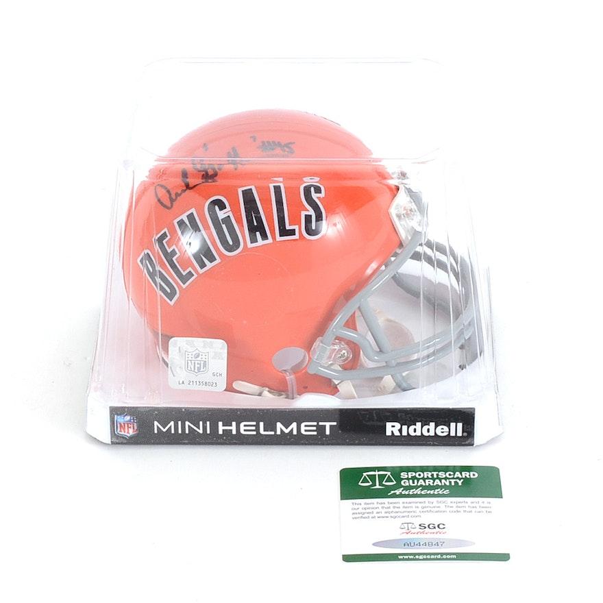 8952e7e09 Archie Griffin Signed Bengals Mini Football Helmet COA   EBTH