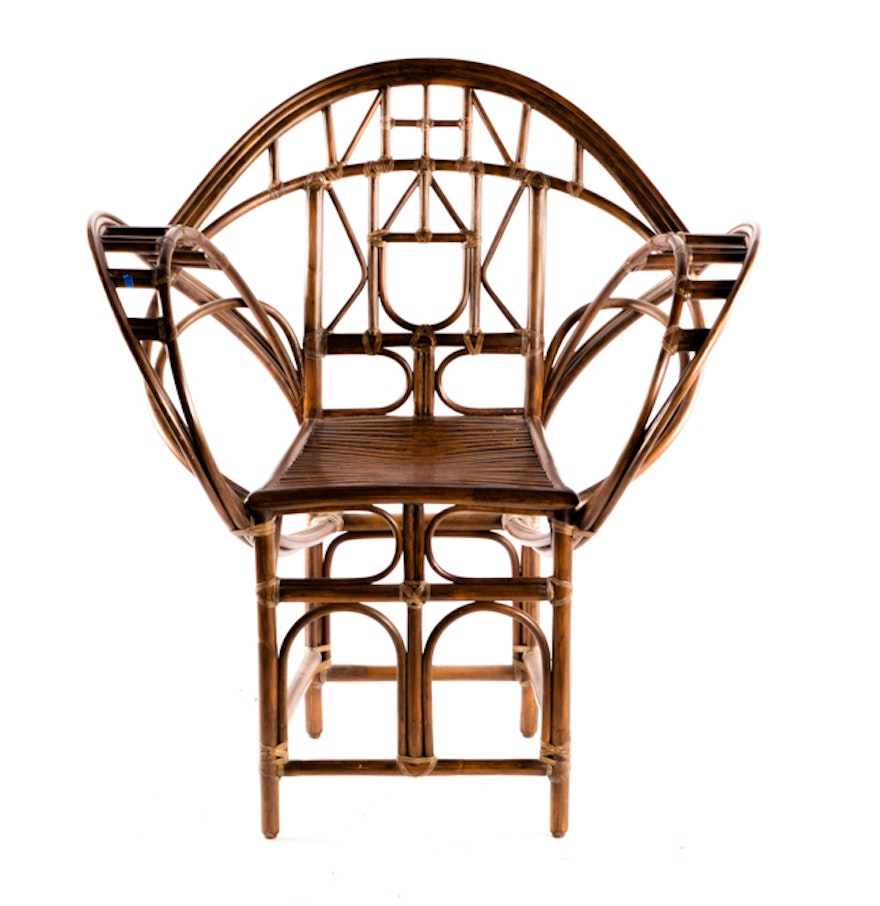 Butterfly metal chair - Mcguire Rattan Butterfly Chair