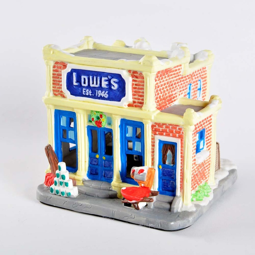 50th anniversary lowes christmas village house
