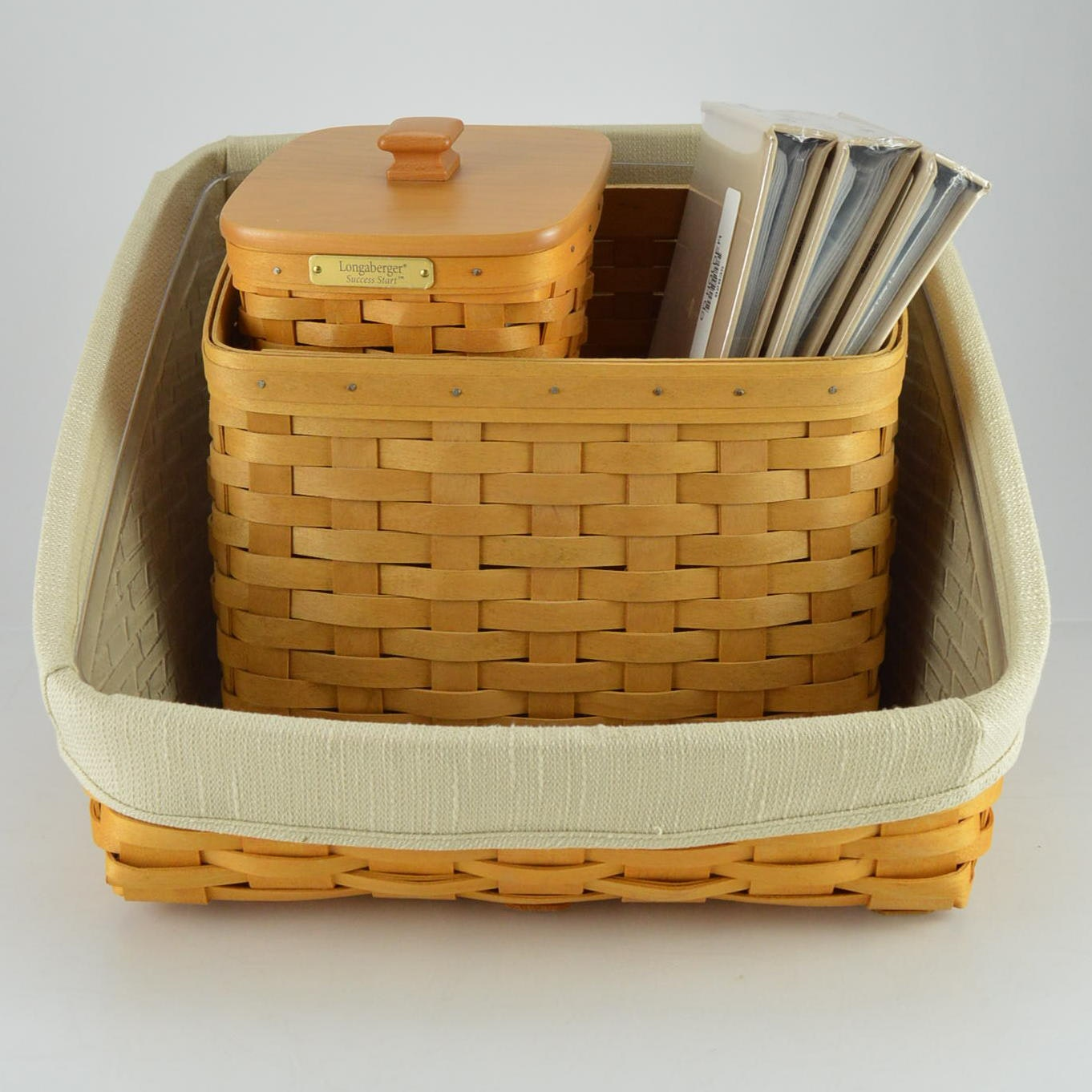 Collection of Longaberger Baskets and Accessories
