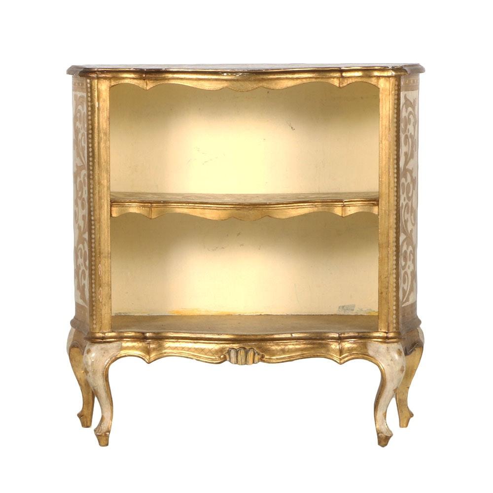 Ornate Gilt Bookcase