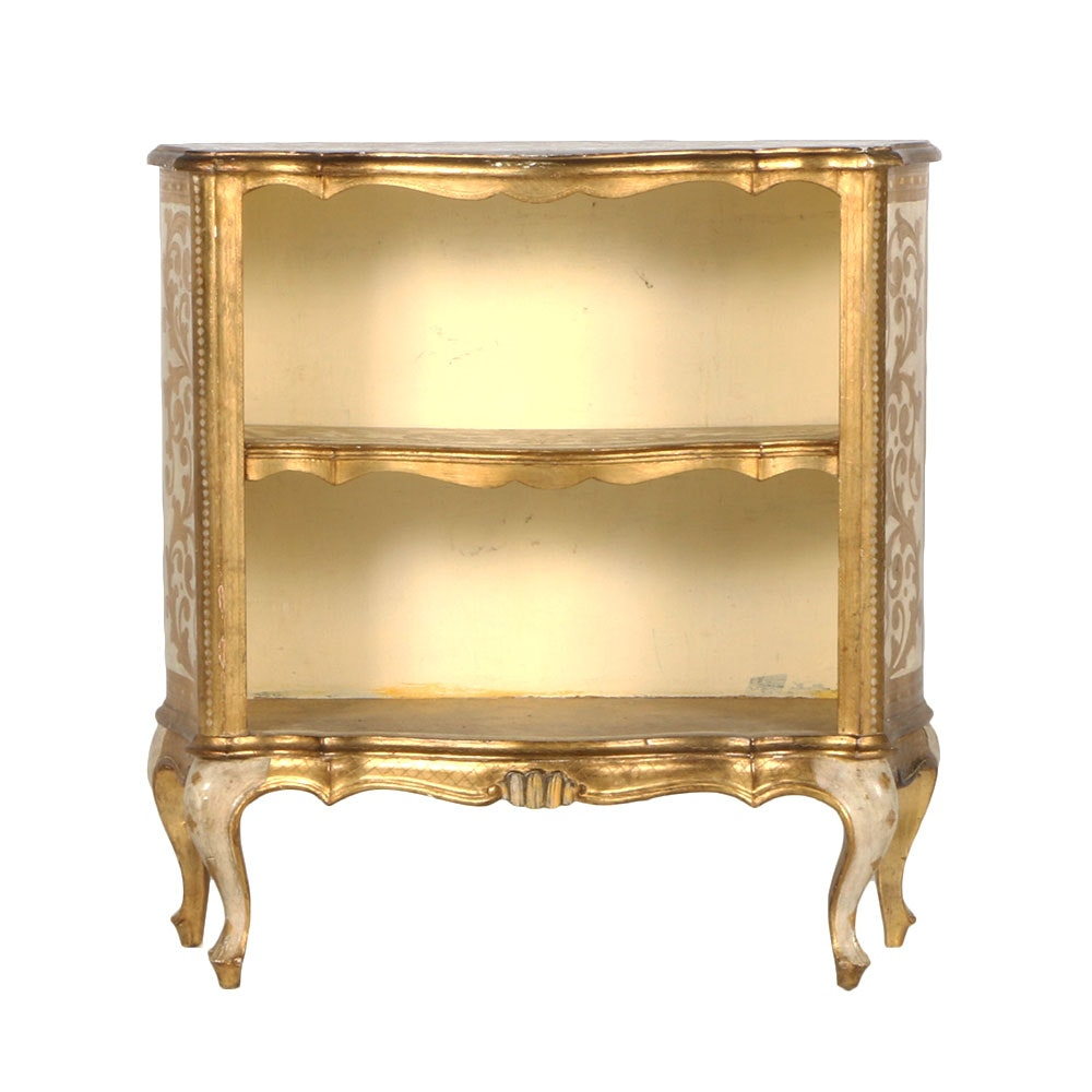 Ornate Gilt Bookcase