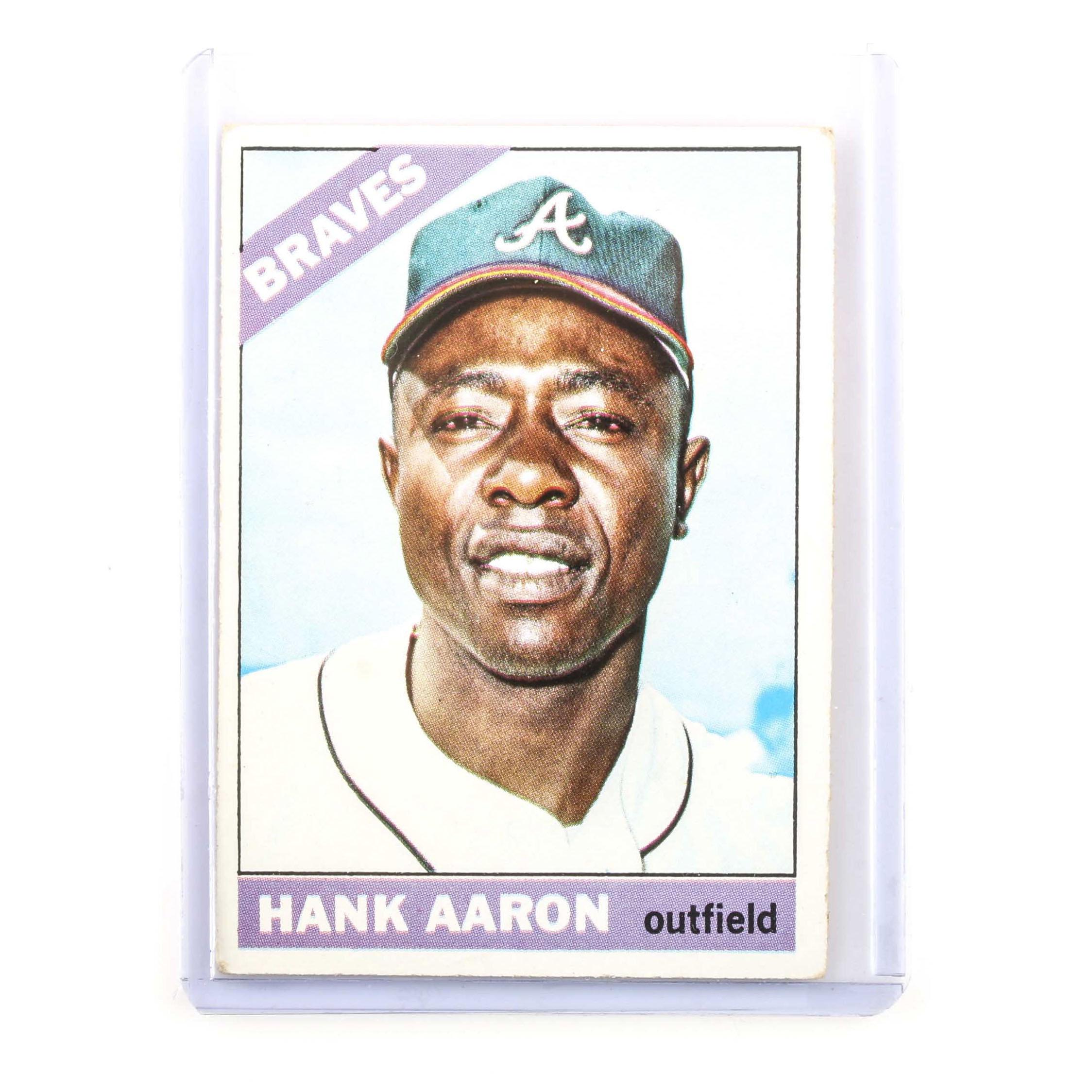 1966 Topps Hank Aaron Baseball Card