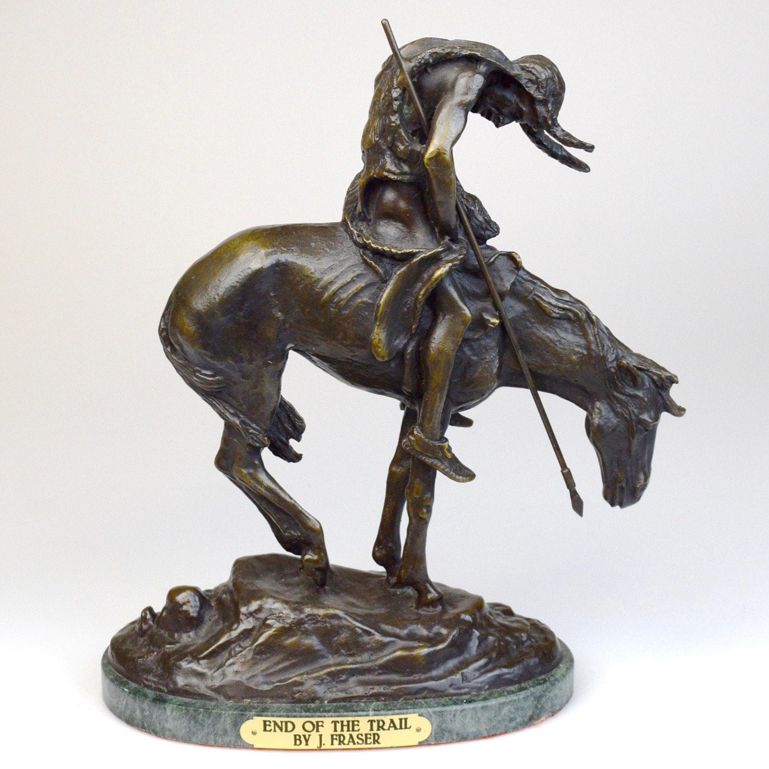 "After James Earle Fraser Bronze Sculpture ""End of the Trail"""