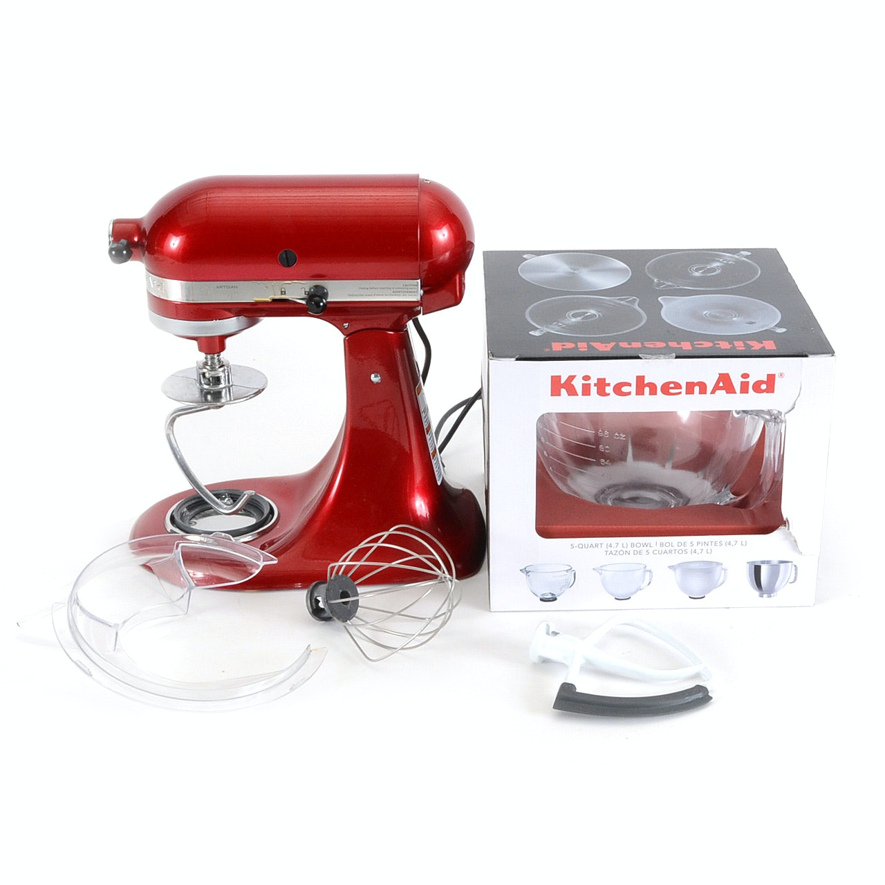 "Kitchen-Aid ""Artisan"" Mixer with Accessories"