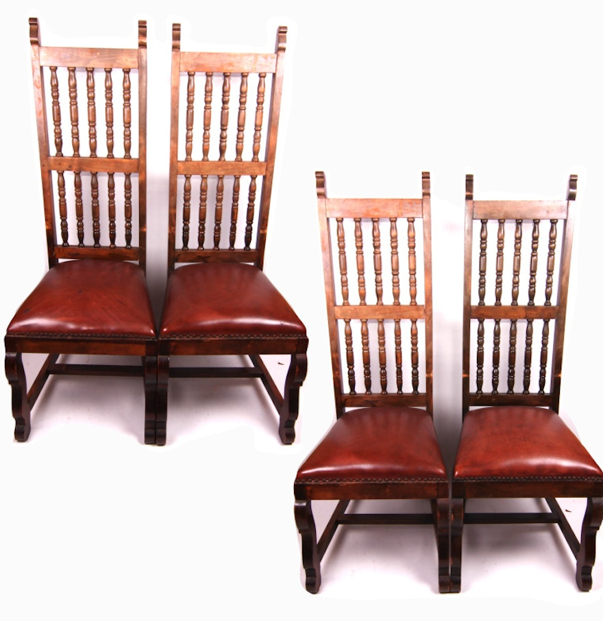 Vintage Spanish Colonial Style Dining Chairs : EBTH