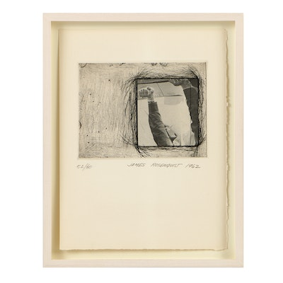 "James Rosenquist Limited Edition Photogravure and Etching on Paper ""Certificate"""