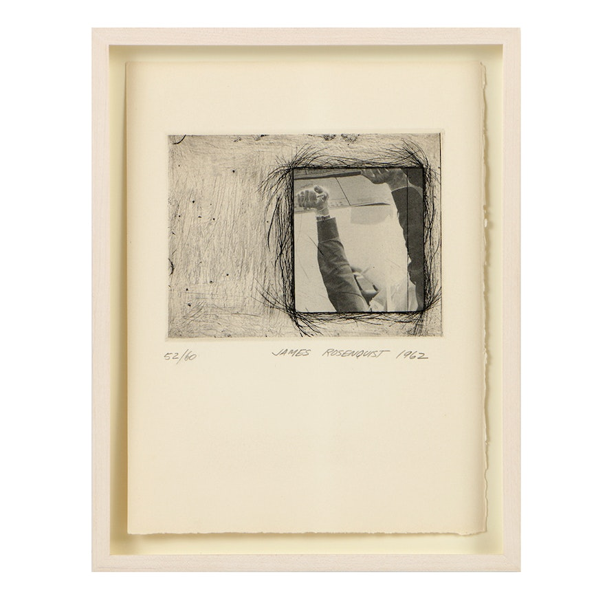 """James Rosenquist Limited Edition Photogravure and Etching on Paper """"Certificate"""""""