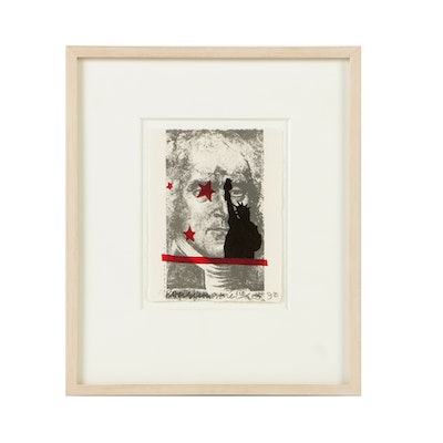 "Robert Rauschenberg Limited Edition Lithograph on Paper ""Speckled"""