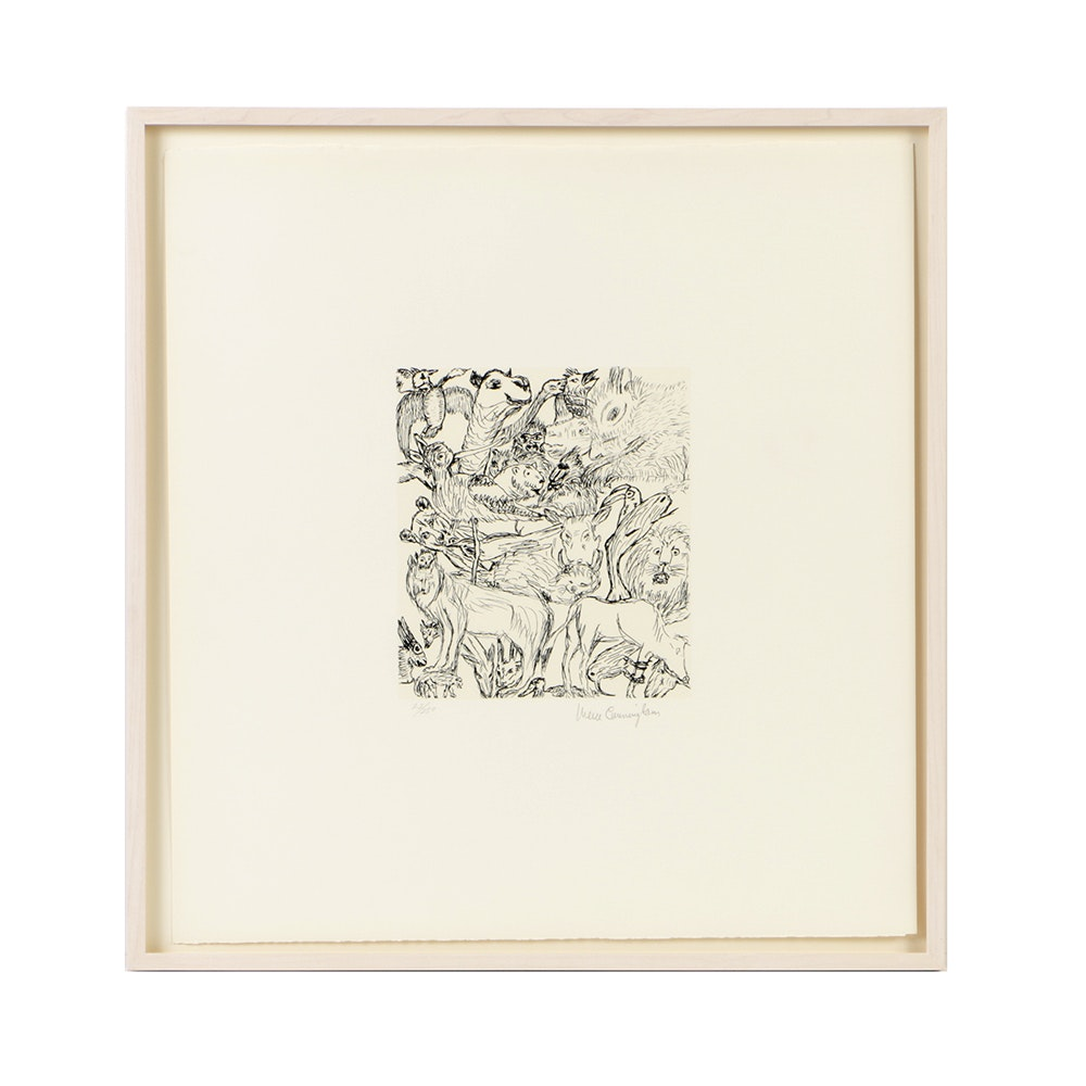 Merce Cunningham Limited Edition Lithograph on Paper