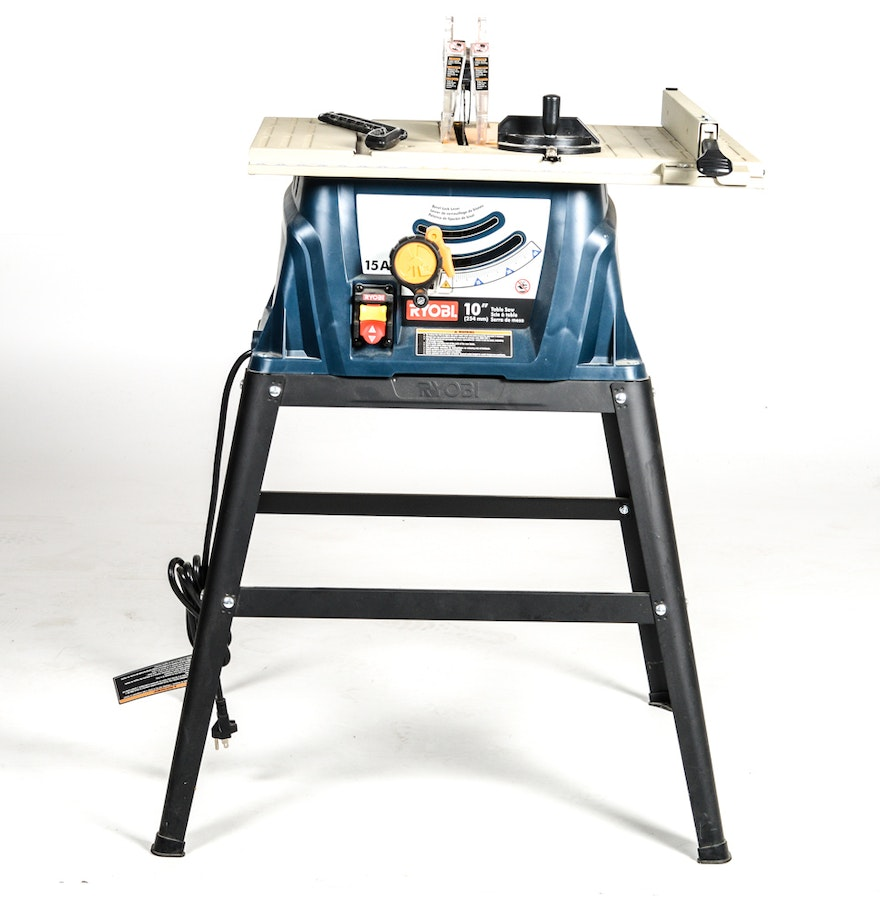 Ryobi rts10 10 table saw ebth for 12 inch table saws for sale