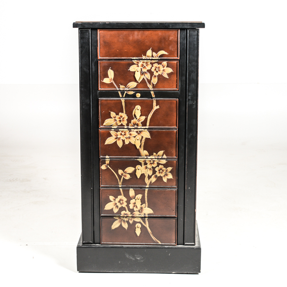 Pier 1 Imports Japanese Inspired Lacquered Jewelry Armoire EBTH
