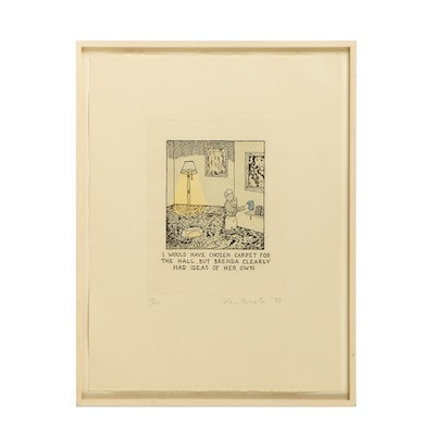 Glen Baxter Limited Edition Lithograph on Paper