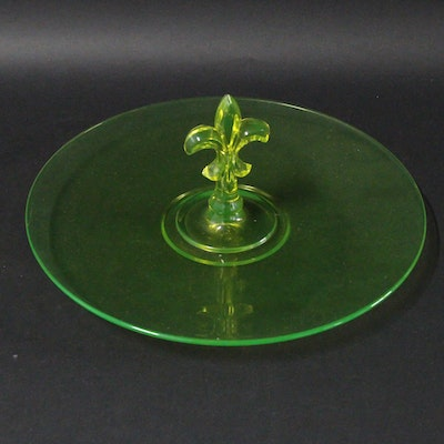 Vintage tableware auction antique tableware auctions in art collectibles jewelry more - Fleur de lis serving tray ...