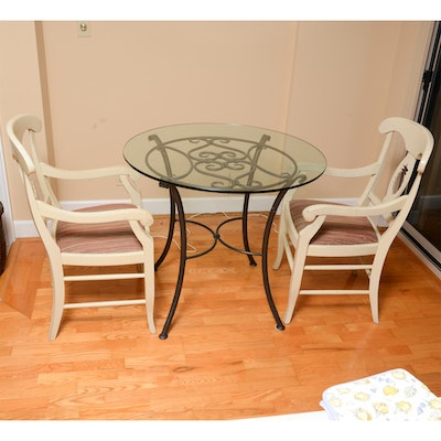 Vintage Walter Wabash Laminate Kitchen Table And Four Chairs Ebth