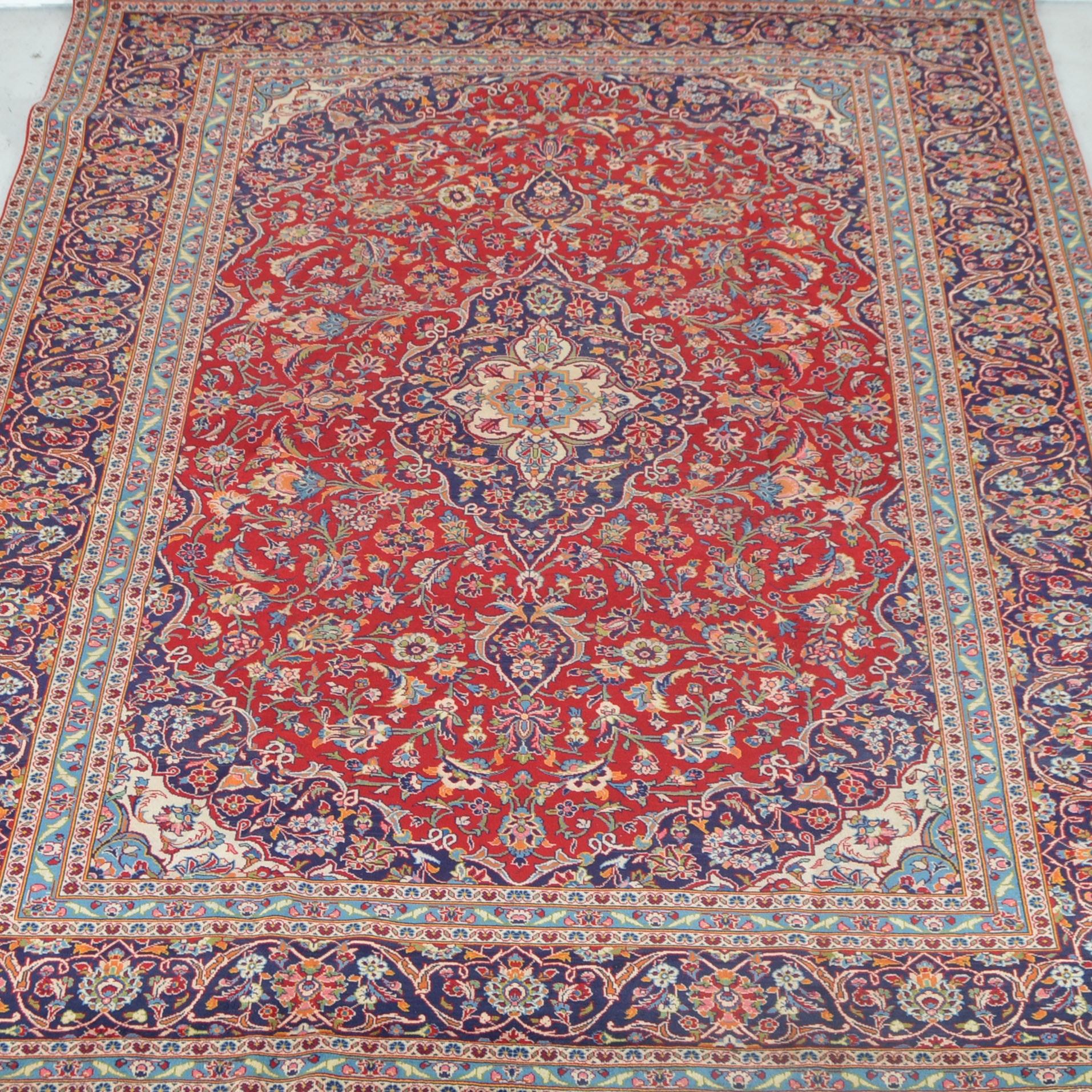 Large Handwoven Tabriz Style Rug