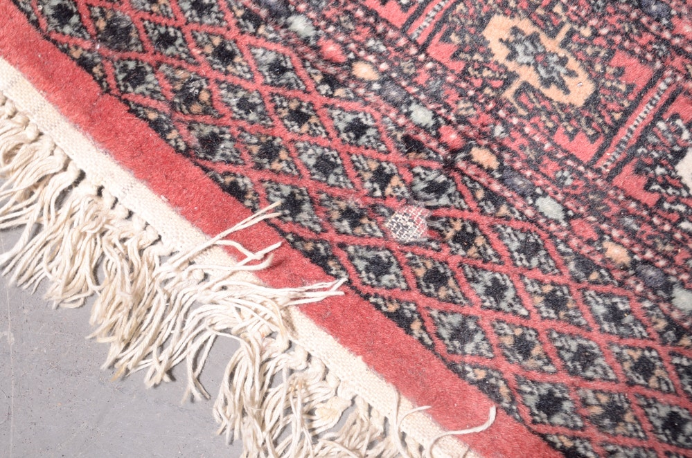 Hand Knotted Turkmen Style Bokhara Area Rug Ebth