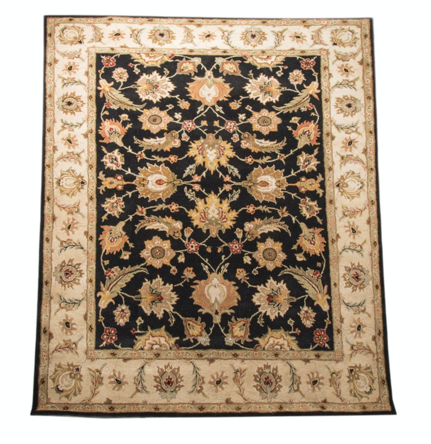 Tufted Indo Persian Wool Area Rug Ebth: Addison And Banks Hand-Tufted Oriental Wool Rug : EBTH