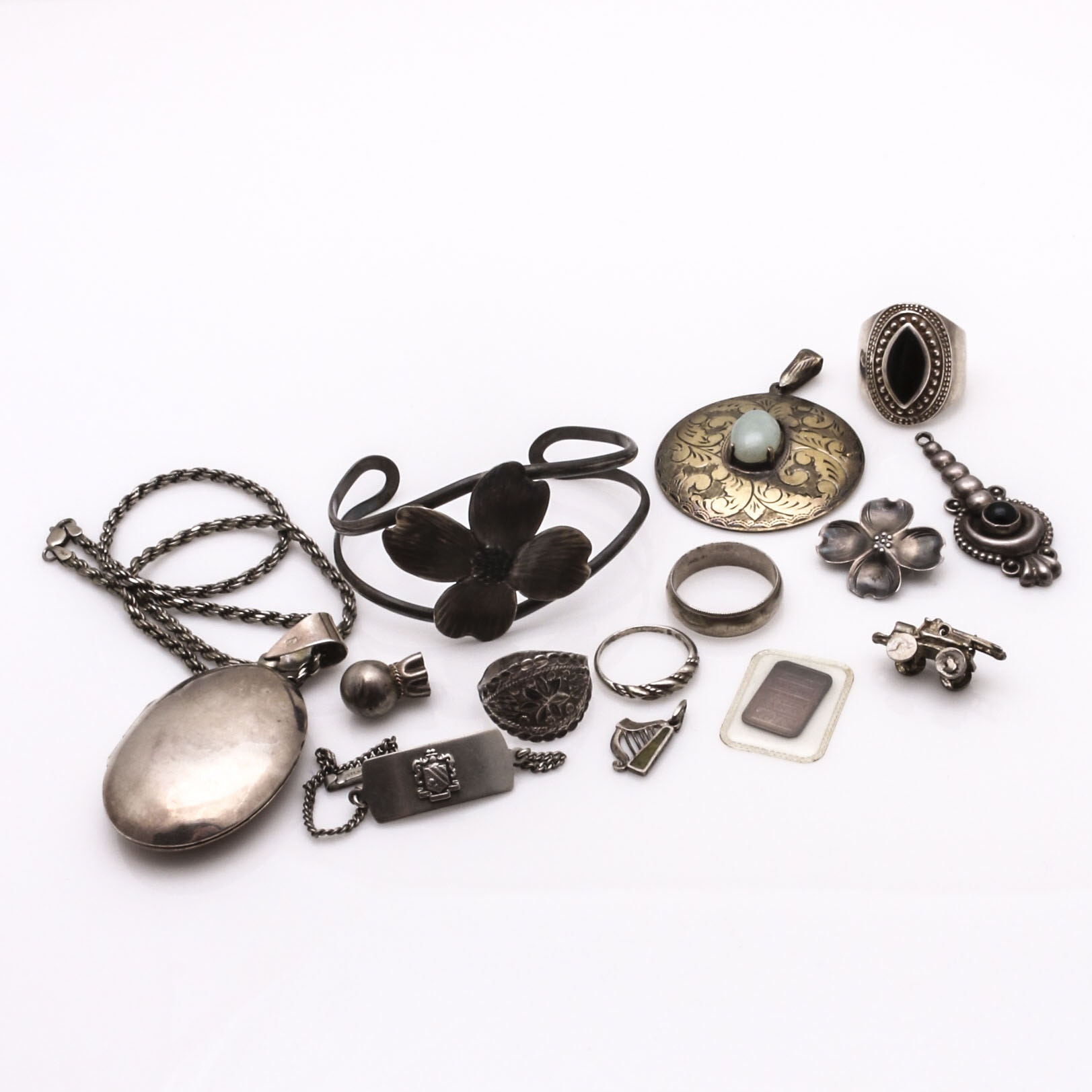 Assortment of Sterling Silver Jewelry