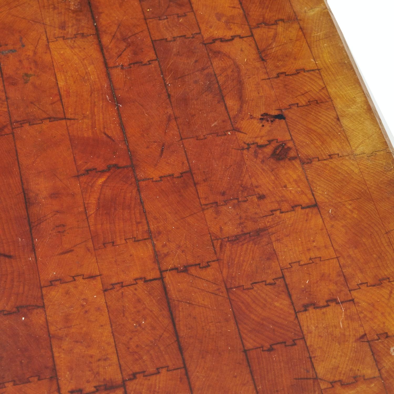 vintage maple butcher block table ebth