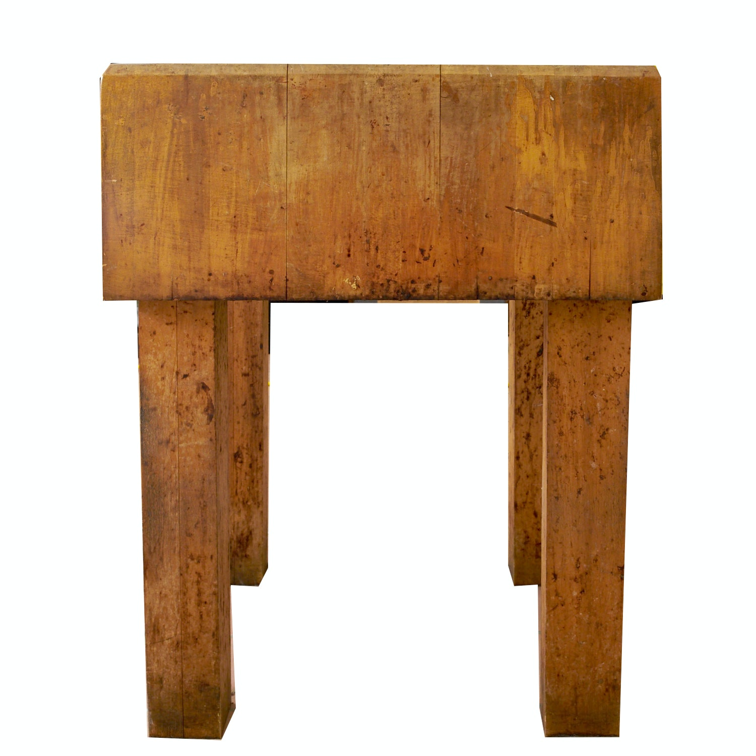 vintage maple butcher block table ebth