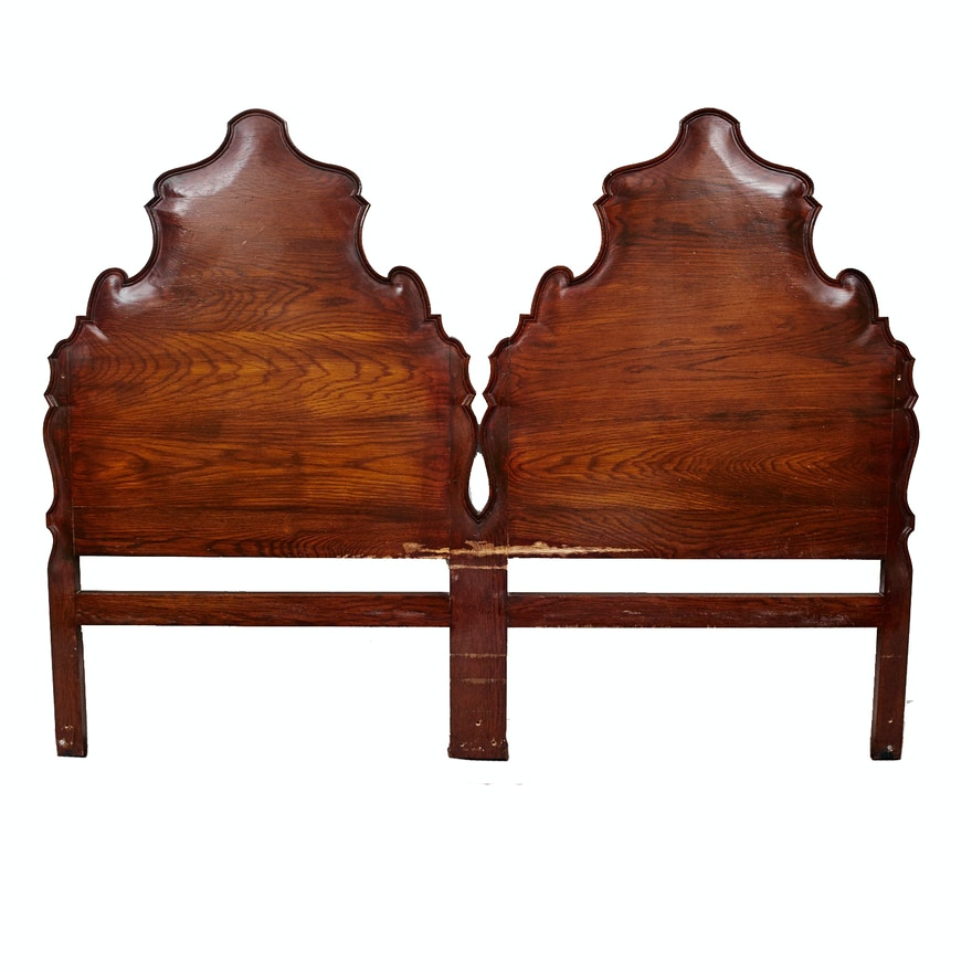 Antique Oak King Size Headboard