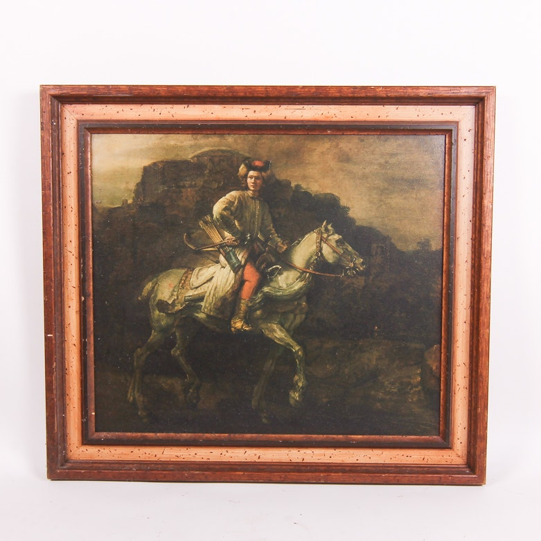 """Reproduction Giclee After Rembrandt's """"The Polish Rider"""""""