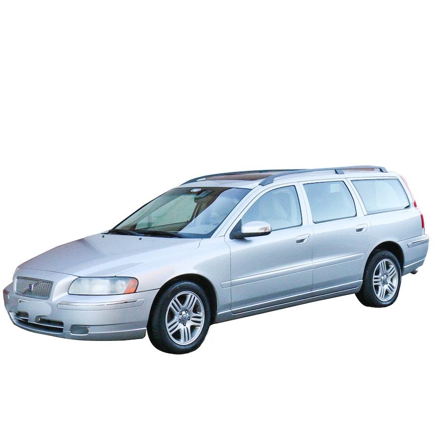 silver 2007 volvo v70 station wagon ebth. Black Bedroom Furniture Sets. Home Design Ideas