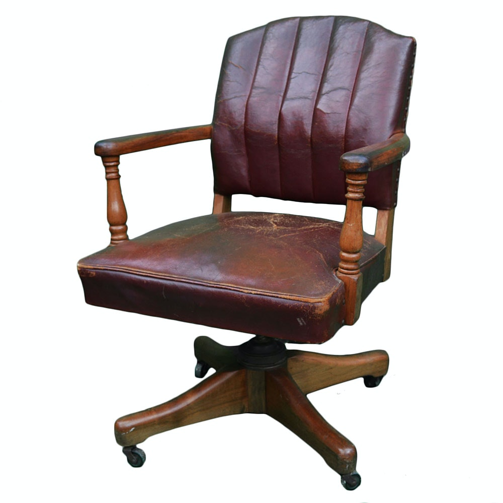 Vintage Gunlocke Rolling Office Chair ...
