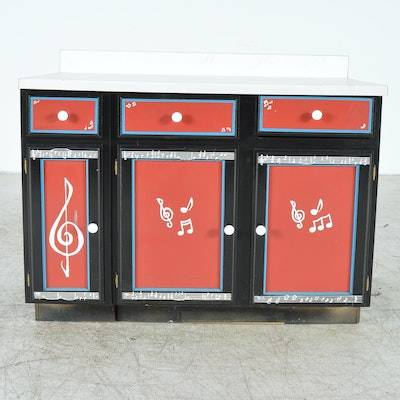 Online furniture auctions vintage furniture auction for Music themed furniture