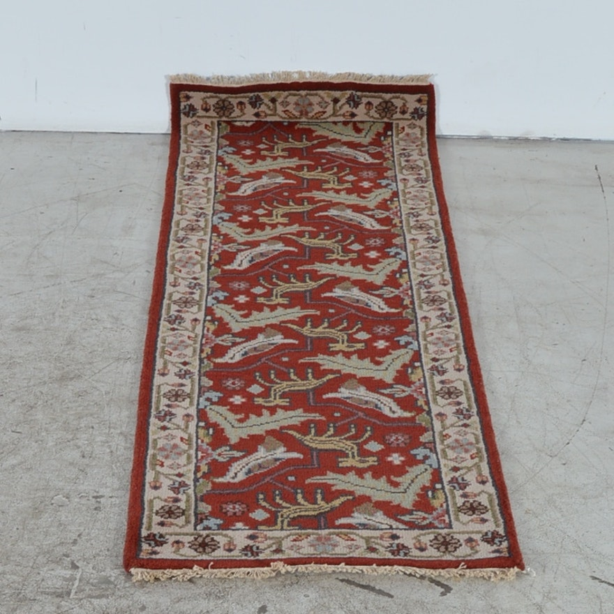 Hand Knotted Persian Tabriz Wool Area Rug Ebth: Hand Knotted Tabriz Style Rug Runner