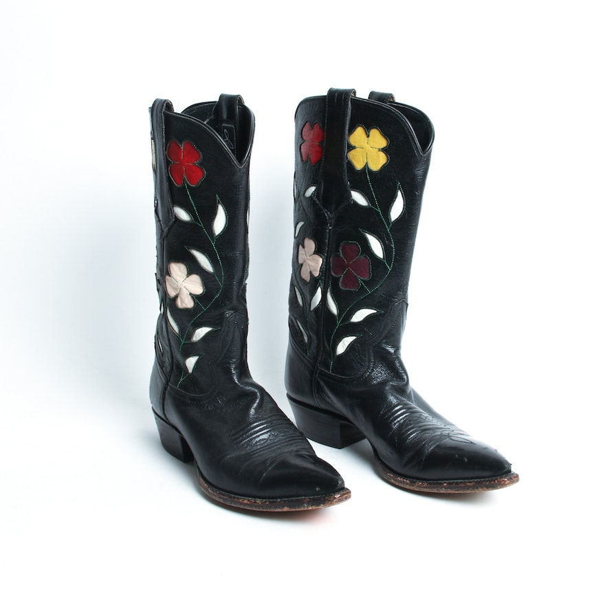 0c09438633b Vintage Larry Mahan for Thieves Market Cowboy Boots