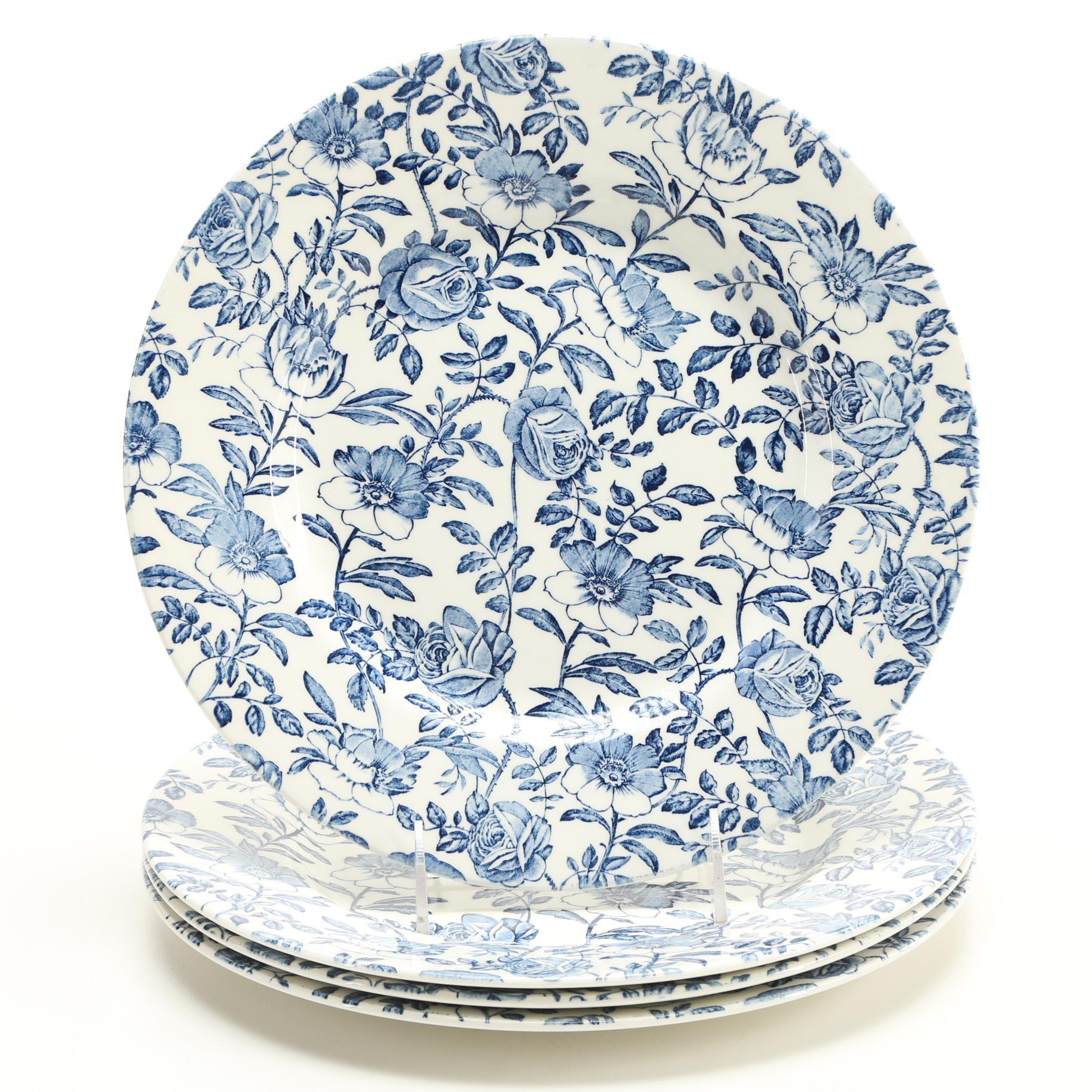 Set of Churchill  Blue Peony  China Dinner ...  sc 1 st  EBTH.com & Set of Churchill