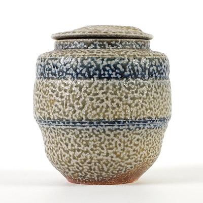 Karen Karnes Salt-Glazed Stoneware Lidded Vessel