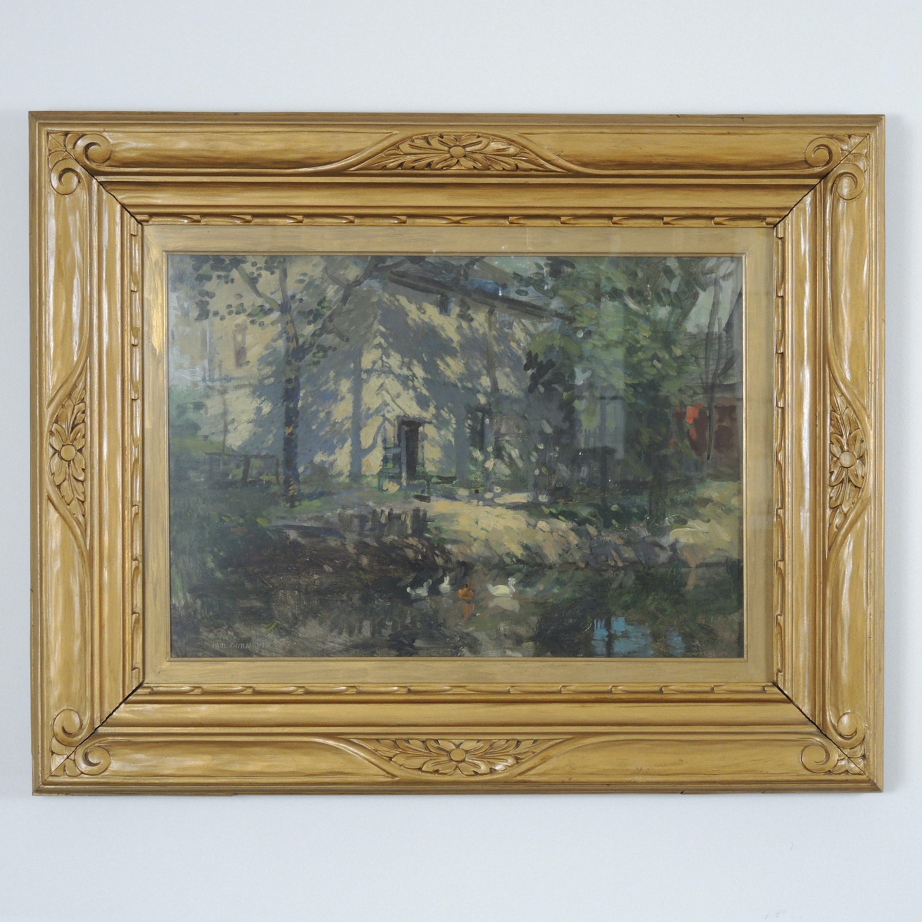 Paul Cornoyer 20th Century Impressionist Oil Painting in Albert Milch Frame