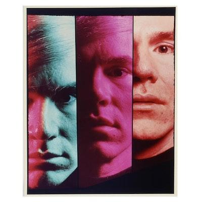 Philippe Halsman Original Chromogenic Photograph of Andy Warhol