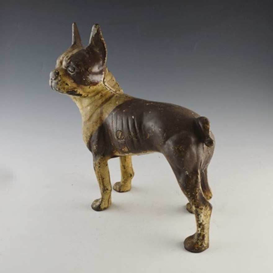 Vintage Cast Iron Boston Terrier Door Stop ... - Vintage Cast Iron Boston Terrier Door Stop : EBTH