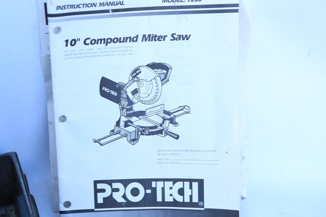 Pro Tech 10 Quot Compound Miter Saw Ebth