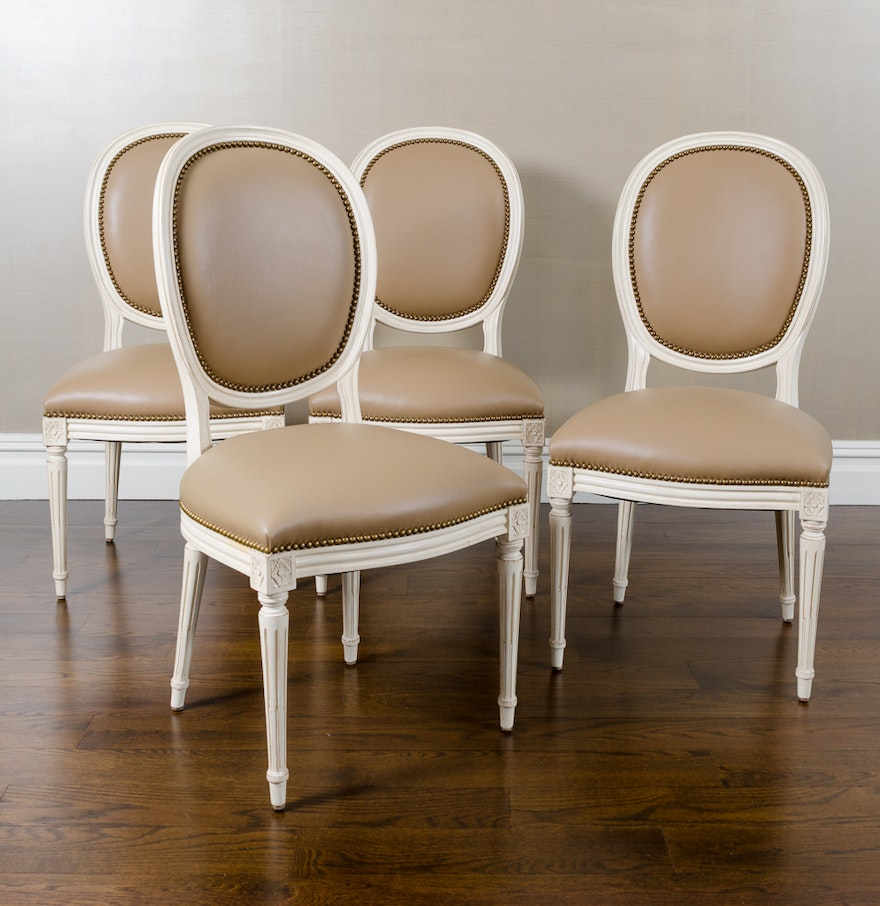 Set of Four Louis XVI Style Dining Chairs : EBTH