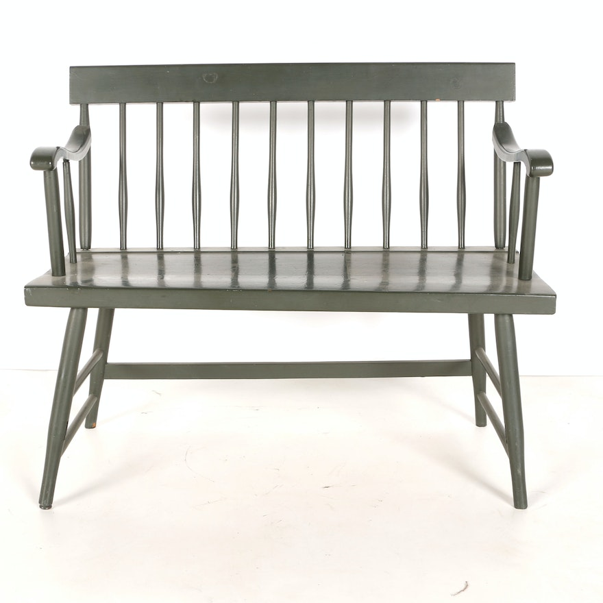 Sensational Painted Wooden Bench Pabps2019 Chair Design Images Pabps2019Com