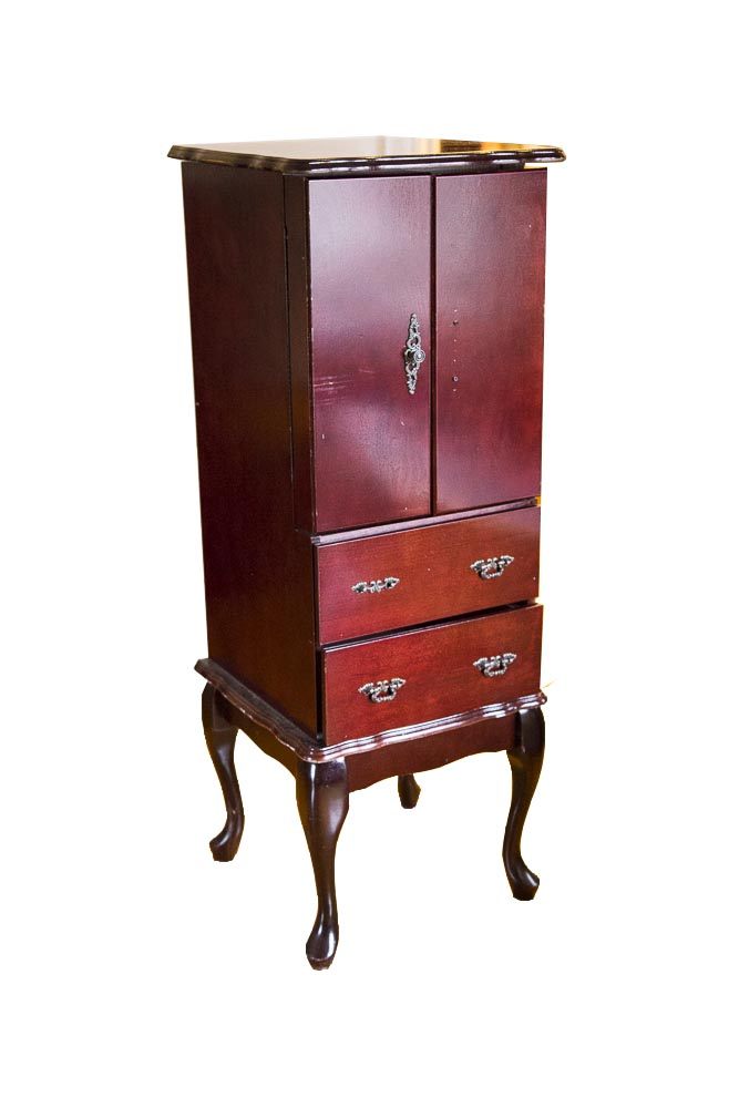 Queen Anne Style Jewelry Armoire EBTH