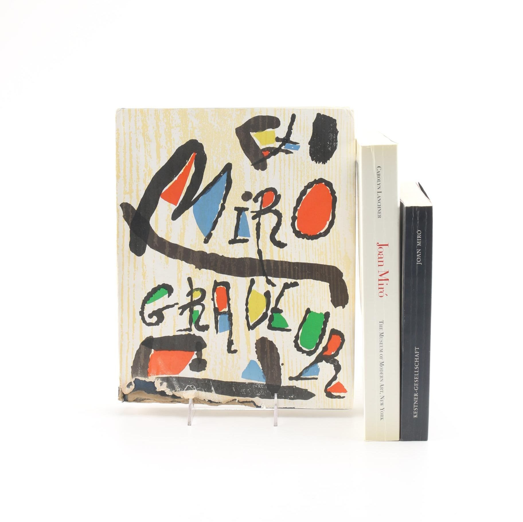 Group of Three Joan Miro Books