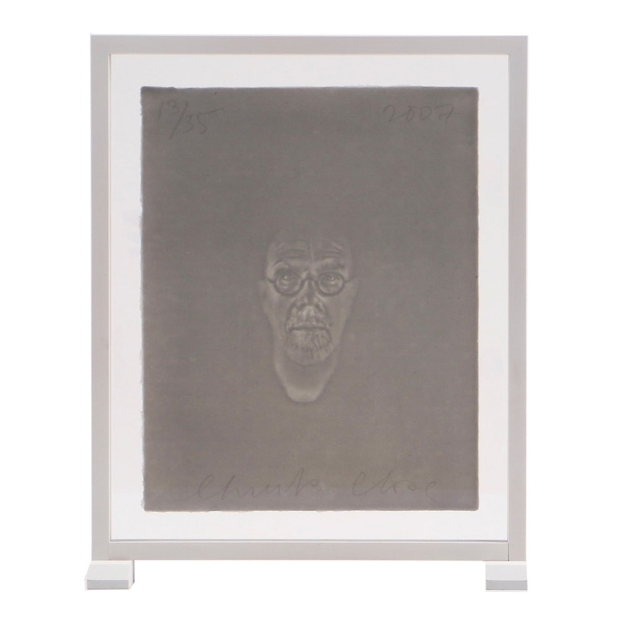 "Chuck Close Limited Edition ""Watermark Self-Portrait"""