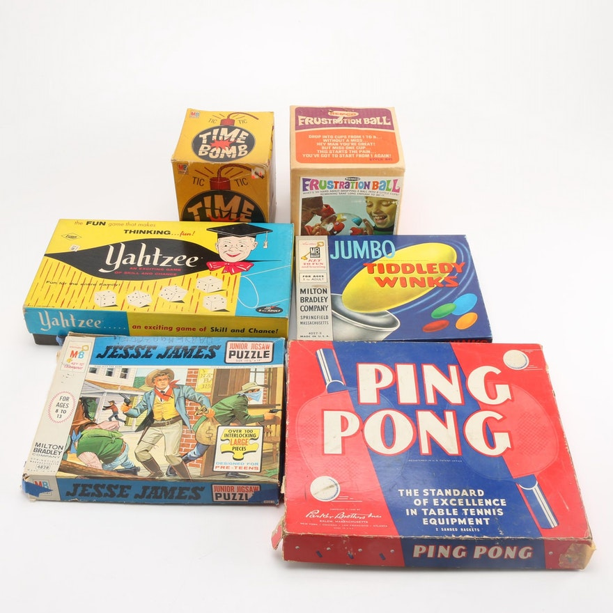 Time Bomb Frustration Ball And Other Vintage Games And