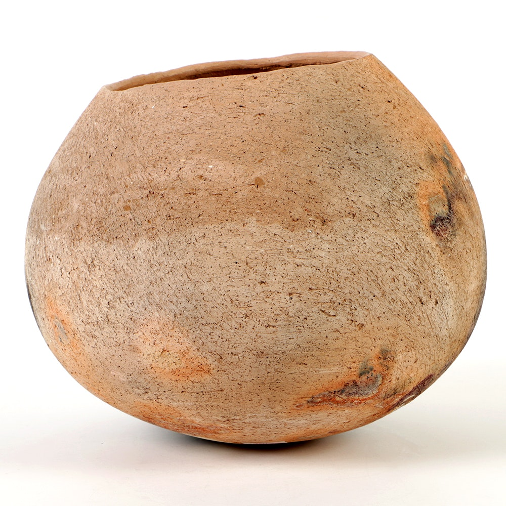 Rick Dillingham Asymmetric Pit Fired Stoneware Vessel