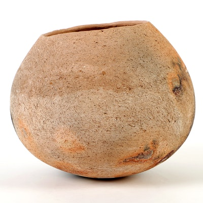 Rick Dillingham Asymmetric Pit Fired Stoneware Vessel