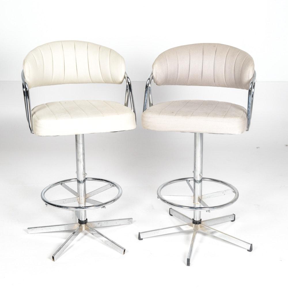 Pair Of Iron Bar Chairs Ebth