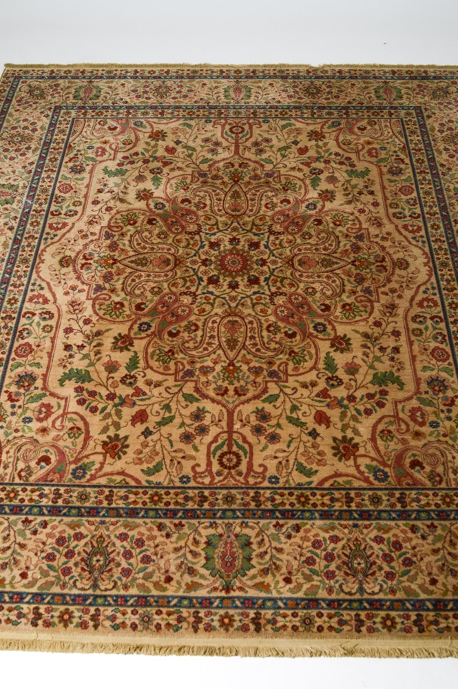 Machine Made Karastan Quot Tabriz Medallion Quot Area Rug Ebth
