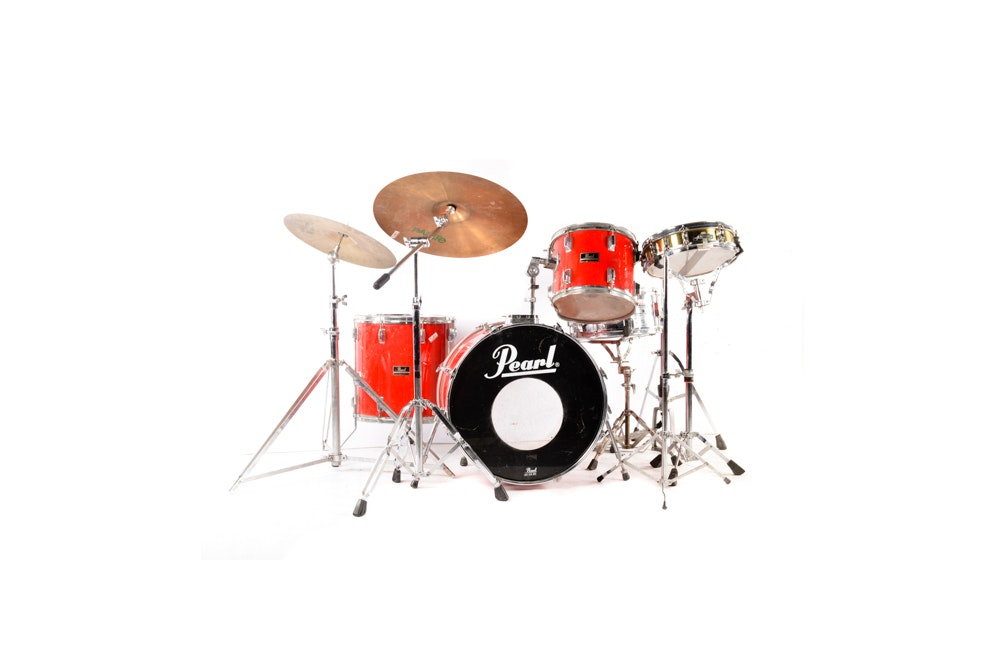 Pearl Export Series Drum Kit and Sabian, Paiste Cymbals