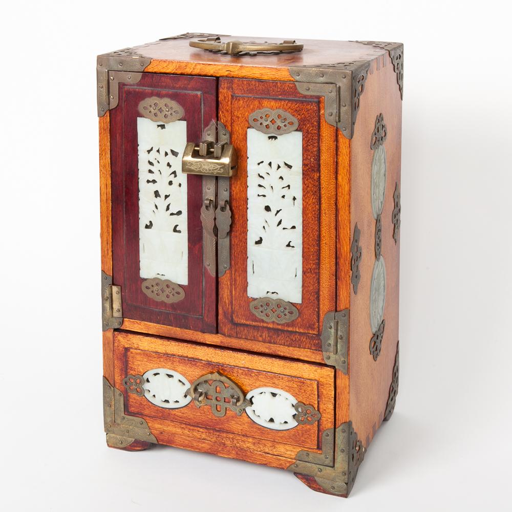 Vintage Chinese Nephrite Jade Jewelry Box EBTH